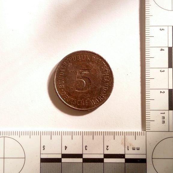 Fünf DM (DeutscheMark) 1975